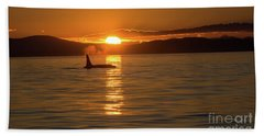 Orca Sunset Beach Towel