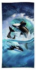 Orca Wave Beach Sheet by Jerry LoFaro