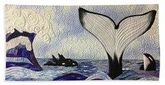 Orcas At Play Beach Towel