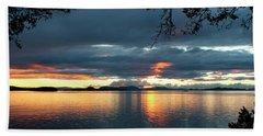 Orcas Island Sunset Beach Towel