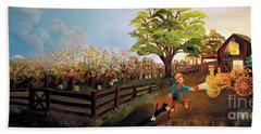 Orchard And Barn Beach Towel