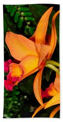 Orchid 355 Beach Towel