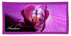 Orchid Abundance Beach Towel