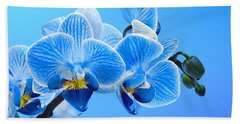 Orchid Blue Beach Sheet by Mark Rogan