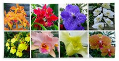 Orchid Collage Beach Sheet