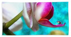 Orchid Delicacy Beach Towel by Krissy Katsimbras
