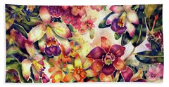 Orchid Garden II Beach Towel