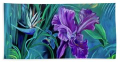 Orchid Jungle Beach Towel