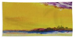 Beach Towel featuring the painting Orchid Sky by Robin Maria Pedrero