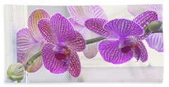 Orchid Spray Beach Towel