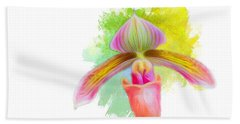 Orchid Whimsy Beach Towel