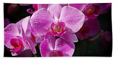 Orchids 4 Beach Towel