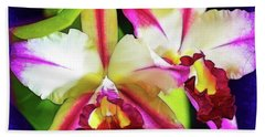Orchids In Color Beach Towel