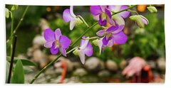 Orchids In Paradise Beach Sheet