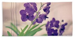 Beach Towel featuring the photograph Orchids In Purple  by Ana V Ramirez