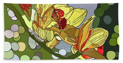 Orchids In Sunlight Beach Towel