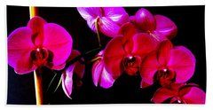 Orchids Beach Towel by Ron Davidson
