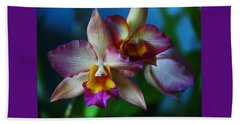 Beach Sheet featuring the photograph Orchids - Trio by Kerri Ligatich