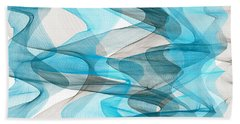 Orderly Blues And Grays Beach Towel
