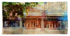 Beach Towel featuring the photograph Ordway Center by Susan Stone