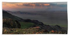 Beach Towel featuring the photograph Oregon Canyon Mountain Views by Leland D Howard