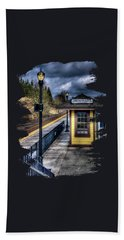 Oregon City Train Depot Beach Towel by Thom Zehrfeld