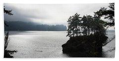 Oregon Coast Fog Beach Towel