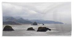 Oregon Coast Mountain Clouds Landscape Beach Sheet by Andrea Hazel Ihlefeld