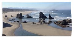 Oregon Coast Sea Stacks Beach Sheet
