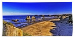 Beach Towel featuring the photograph Oregon Coastal Beauty-2 by Nancy Marie Ricketts