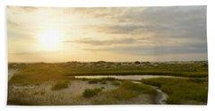 Oregon Inlet Sunrise In July Beach Sheet