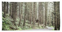 Beach Sheet featuring the photograph Oregon Woodland Mountain Road Landscape by Andrea Hazel Ihlefeld