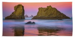 Beach Towel featuring the photograph Oregon's New Day by Darren White