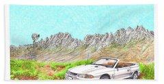 Organ Mountain Mustang Beach Sheet by Jack Pumphrey