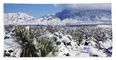 Beach Sheet featuring the photograph Winter's Blanket Organ Mountains by Kurt Van Wagner