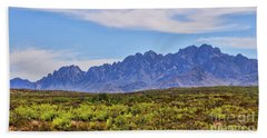 Beach Towel featuring the photograph Organ Mountains  by Gina Savage