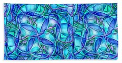 Beach Towel featuring the digital art Organic In Square by Ron Bissett