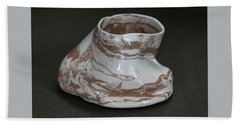 Organic Marbled Clay Ceramic Vessel Beach Towel by Suzanne Gaff