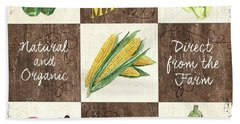 Organic Market Patch Beach Towel by Debbie DeWitt
