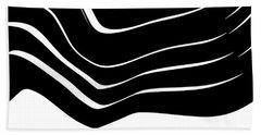 Organic No. 10 Black And White #minimalistic #design #artprints #shoppixels Beach Sheet
