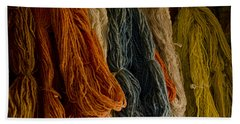 Organic Yarn And Natural Dyes Beach Towel