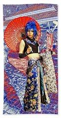 Oriental Cosplayer Beach Sheet by Ian Gledhill