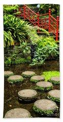 Oriental Garden Stepping Stones Beach Sheet