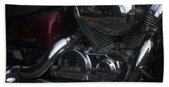 Original Motorcycle File Beach Sheet by Suzanne Powers