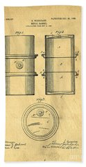Original Patent For The First Metal Oil Drum Beach Towel