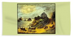 Original San Francisco Cliff House Circa 1865 Beach Towel