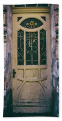 Ornamented Doors In Light Brown Color Beach Sheet by Jaroslaw Blaminsky