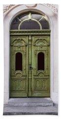 Ornamented Gates In Olive Colors Beach Sheet by Jaroslaw Blaminsky