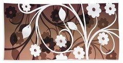 Beach Towel featuring the digital art Ornametal 2 Purple by Angelina Vick