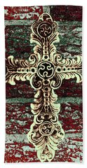 Ornate Cross 1 Beach Sheet